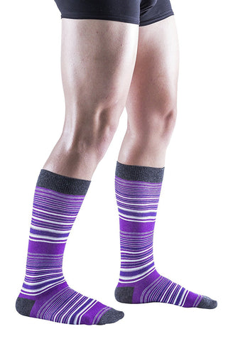 12 Pairs of COTTON Colorful Patterned Mens Dress Socks Pack, Colored Stripes Pattern Men Bulk Sock Fashion Designs Pack B (12 Pairs)