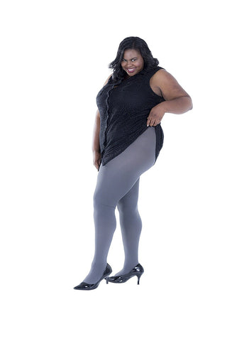 3 Pack Plus Size Thermal Tights, Terry-lined Brushed Lining
