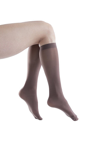 6 Pairs Felicity Womens Trouser Socks, Opaque Thin Nylon Stretchy 50 Denier