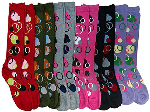 12 Pairs Of Sockbin Womens Knee High Socks, Boot Socks, Long Socks