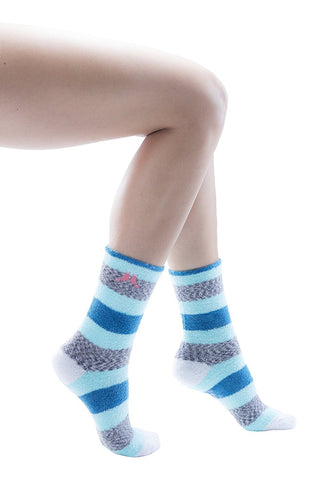 2 Pairs Women Fuzzy Socks, Non Skid Sole