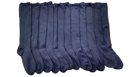 12 Pairs of Girls Knee High Socks, Cotton, School Socks, Value Pack