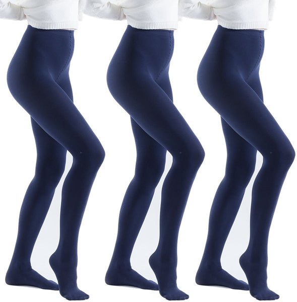 3 Pair Pack of Frozen Folk Womens Brushed Thermal Tights, Terry Lined, Warm