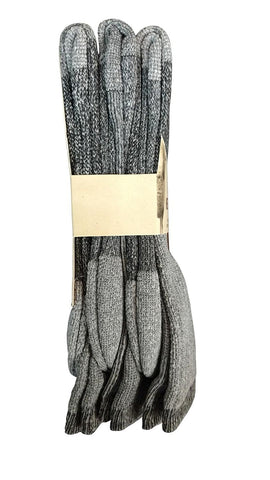 3 Pairs of Sockbin Men's Merino Wool Thermal Socks, Grays, Size 10-13