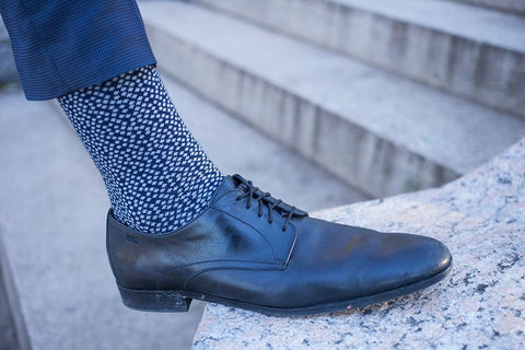 1 Pair Mens Combed Cotton Brovado Patterned Dress Socks