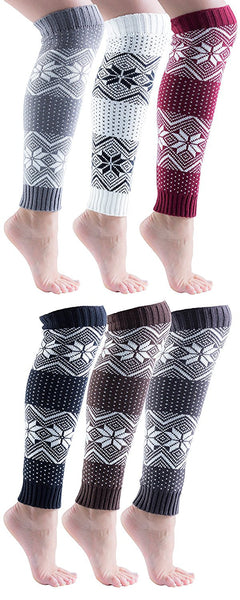 Sockbin Womens Fair Isle Warm Winter Legwarmers, Soft  (6 Pack)