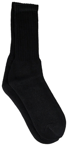 12 Pairs Womens Crew Socks Cotton, Full Terry Cushion, Bulk Athletic Crew Sock White, Black, Gray