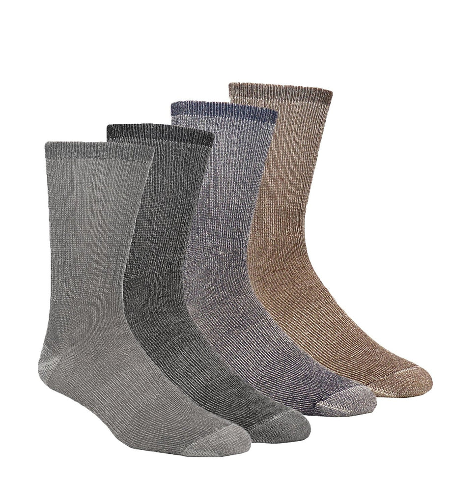 4 Pair Pack of 77% Ultra Fine Merino Men's Wool Boot Socks, Hiking, MADE IN USA, Premium Quality