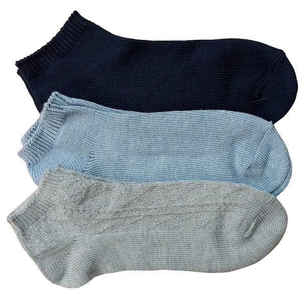 3 Pairs of XOXO Ankle Socks Women, Sports Socks Women, No Show Womens Socks