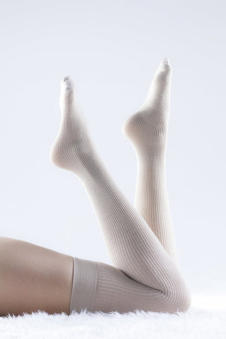 Trasparenze Dora Womens Italian Wool Ribbed Socks, Soft Textured