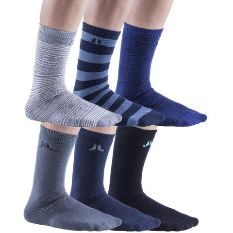 6 Pairs Mens Gripper Socks, Non-Skid Soles, Soft Cotton Slipper Socks