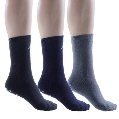 3 Pairs Womens Slipper Socks, Non Skid Gripper Socks
