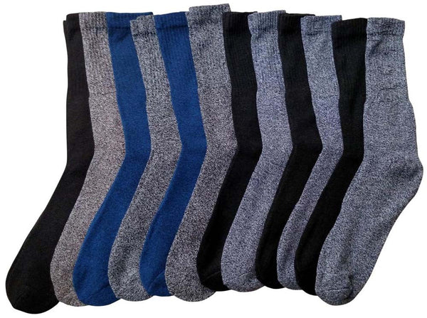 12 Pair Of Sockbin Mens Thick Warm Winter Thermal Socks With Marled Yarn, BT01-12
