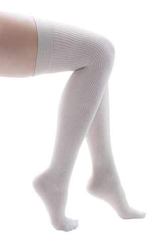 Trasparenze Dora Italian Cotton Ribbed Over the Knee Socks, Soft Textured