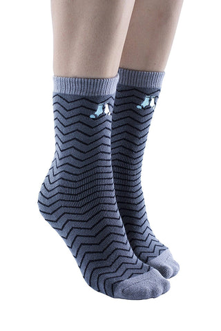 1 Pair Womens Gripper Socks, Non Skid Socks, Soft Cotton Slipper Socks for Women