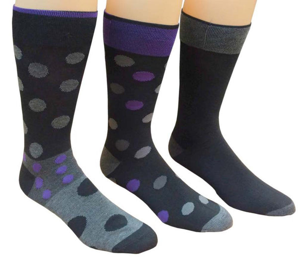 3 Pairs of Sockbin Men Casual Socks Fun Dress Socks Casual Fun Patterned Socks