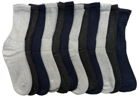 12 Pairs of Sockbin Women Crew Socks, Women Cotton Socks, Diabetic Socks