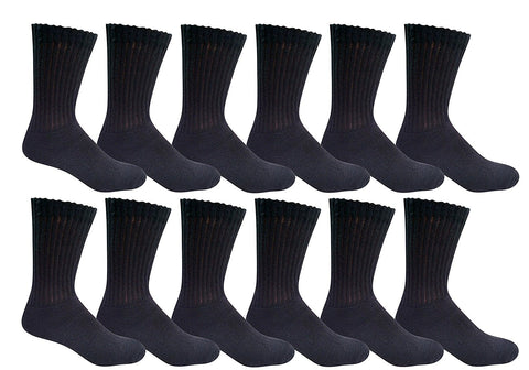 12 Pairs Of Sockbin Cotton Men Crew Socks Value Pack Casual Bulk Socks