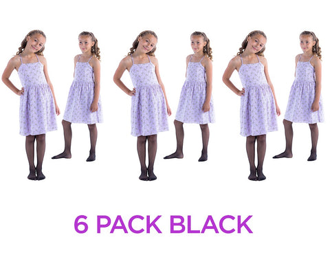 6 Pack of Felicity Tights for Girls, Sheer Tights, Girl Tights, Girls Pantyhose