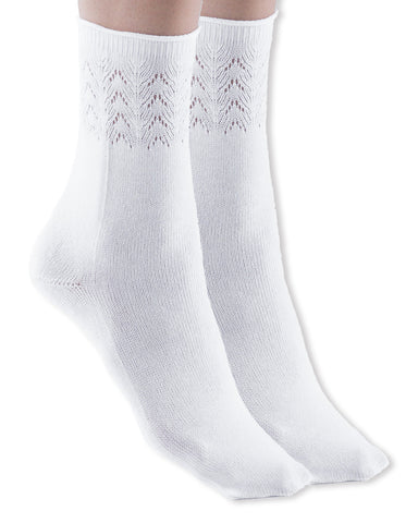 Womens Gladiolo Cotton Dress Socks, Soft, Chevron Knit, 75% Cotton