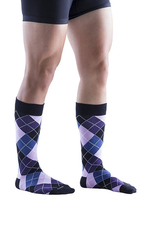 4 Pairs of Big and Tall Mens Extra Large Dress Socks, Colorful