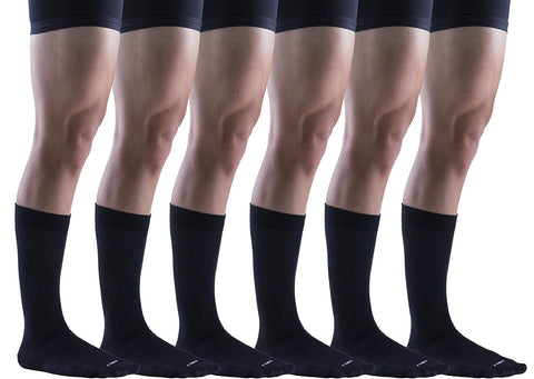 6 Pairs of Mens Big & Tall King Size Dress Socks