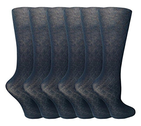 Sockbin Girls School Knee High Argyle Children Solid Color Socks