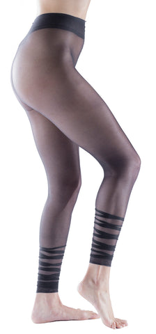 Trasparenze Orchidea Footless Sheer Pantyhose, Ruffled Ruched Bottom
