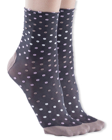 1 Pair Trasparenze Trifoglio Polka Dot Patterned Dress Socks