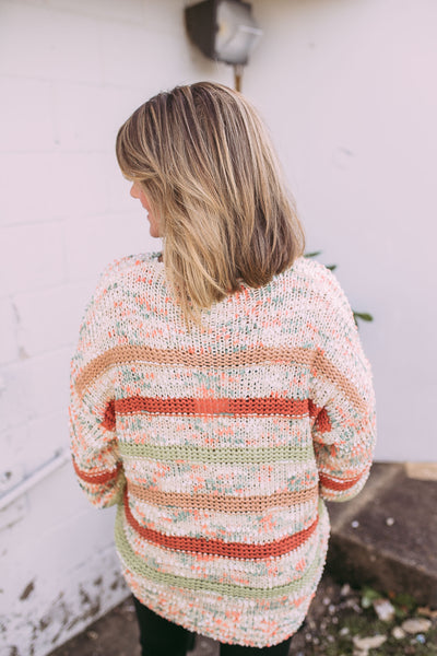 funfetti sweater- orange