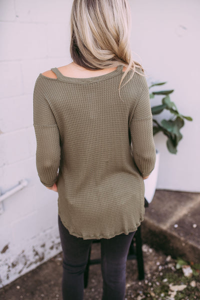 cozy olive thermal