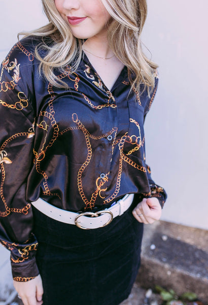 linked in blouse