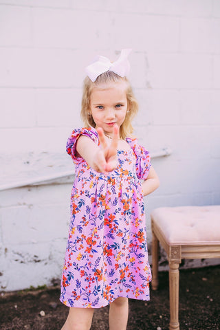 garden party, babydoll kids dress
