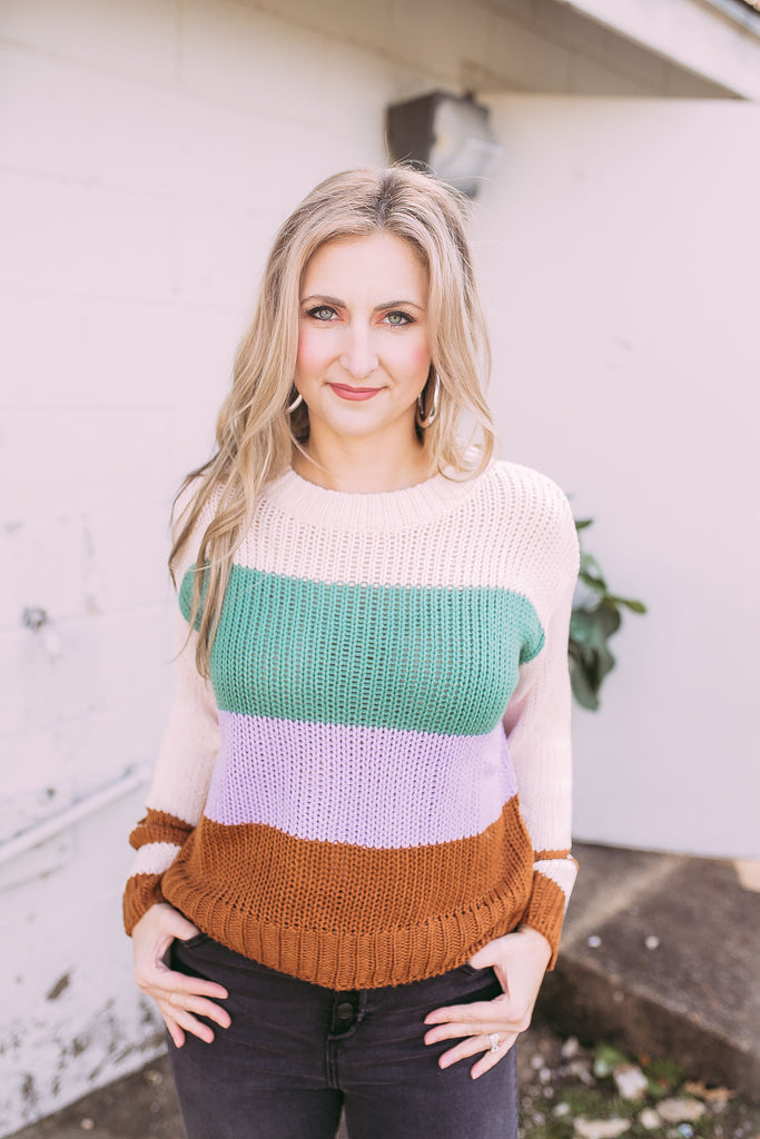 lady lavender sweater