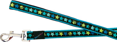 Hem & Boo dog lead.  Blue stars