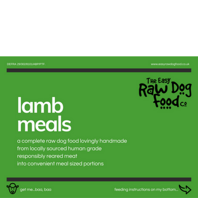 Easy Raw Dog Food Co, Lamb 80/10/10 meals 10x100g