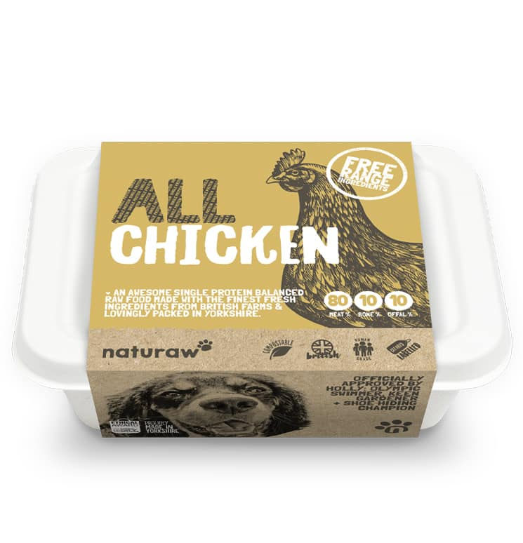 Naturaw Raw dog food. All Free Range Chicken 500g