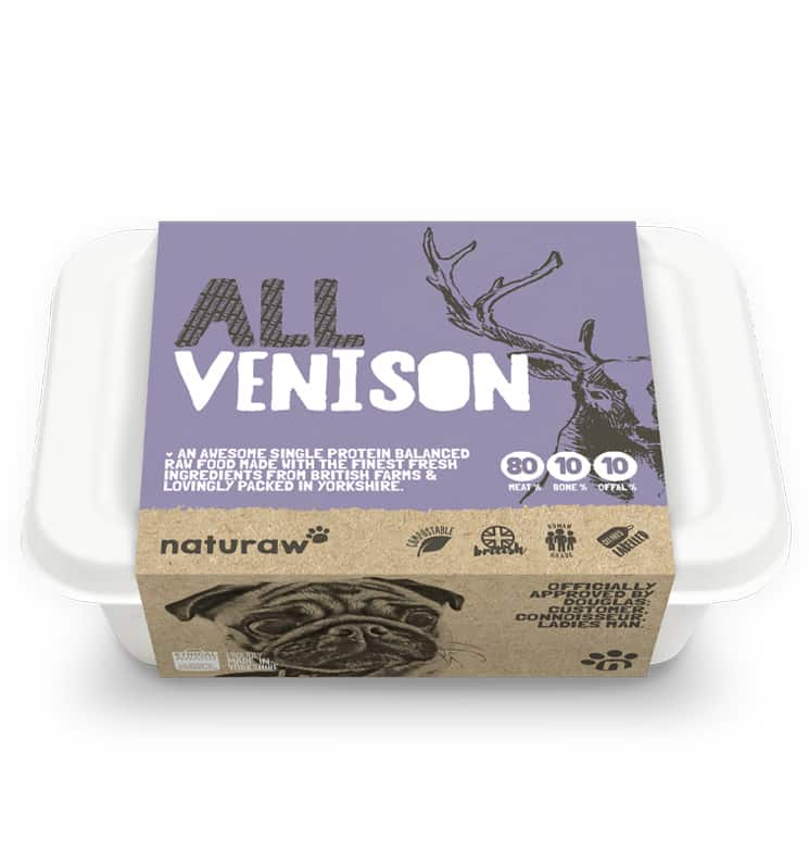 Naturaw Raw dog food. All Venison 500g