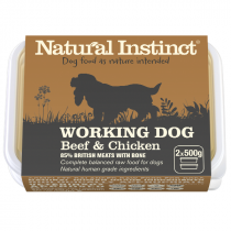 Natural Instinct Working Dog Raw Food. Beef & Chicken
