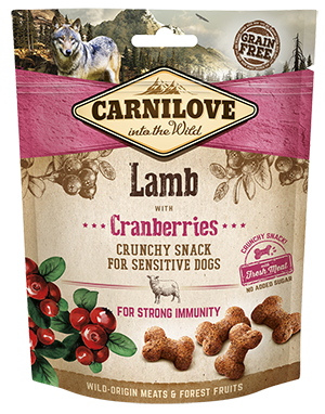 Carnilove Crunchy dog treat. Lamb with cranberries 200g