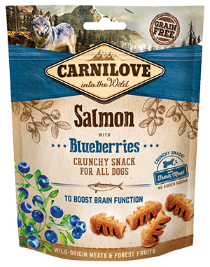 Carnilove Crunchy dog treat. Salmon with blueberries 200g