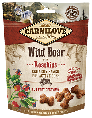 Carnilove Crunchy dog treat. Wild Boar with Rosehips 200g