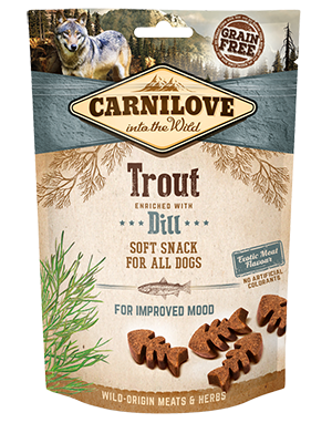 Carnilove soft treats Trout with dill 200g