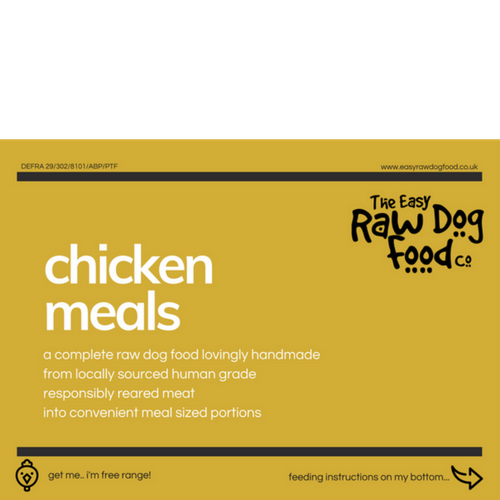 Easy Raw Dog Food Co, Chicken 80/10/10 meals 10x100g