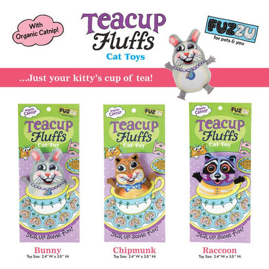 Fuzzu teacup fluffs cat toy
