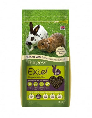 Burgess Excel adult rabbit food with mint