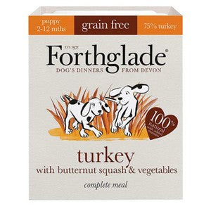 Forthglade grain free complete food for puppies.
