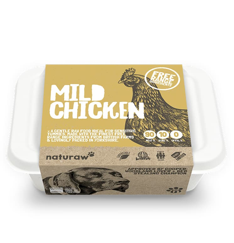 Naturaw Raw dog food. Mild free range chicken 500g
