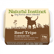 Natural Instinct Natural Range raw dog food. Beef tripe