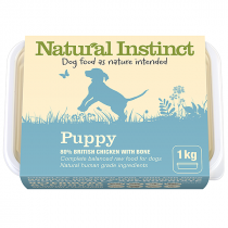 Natural Instinct Natural Range raw dog food. Puppy (chicken and beef liver)